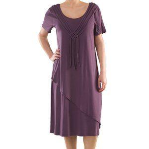 Plus Size 2 Layered Casual Knit Dress - La Mouette